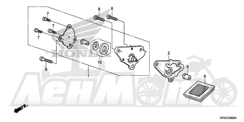Запчасти для Квадроцикла Honda 2008 TRX90EX Раздел: OIL PUMP | маслянный насос