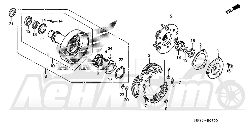 Запчасти для Квадроцикла Honda 2008 TRX90EX Раздел: ONE-WAY CLUTCH | ONE WAY сцепление