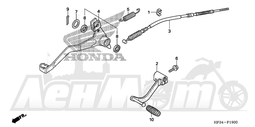 Запчасти для Квадроцикла Honda 2008 TRX90EX Раздел: PEDAL | педаль