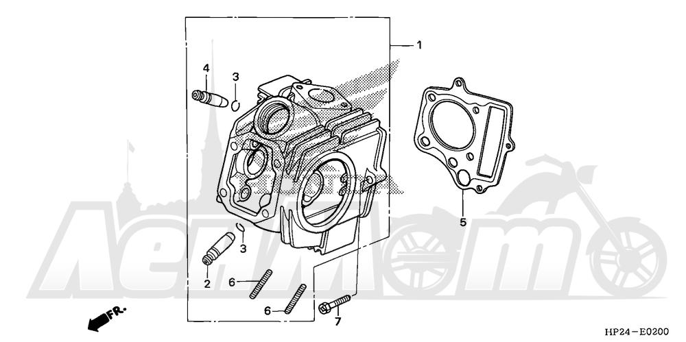 Запчасти для Квадроцикла Honda 2008 TRX90EX Раздел: CYLINDER HEAD | головка цилиндра