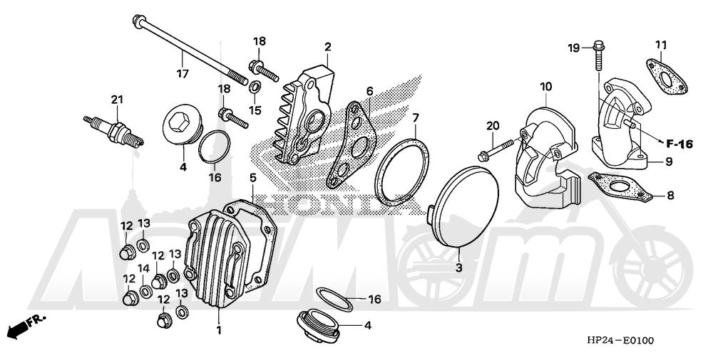 Запчасти для Квадроцикла Honda 2008 TRX90EX Раздел: CYLINDER HEAD COVER | головка цилиндра крышка