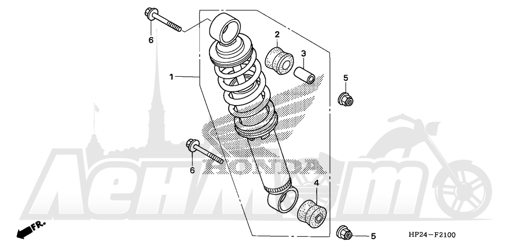 Запчасти для Квадроцикла Honda 2008 TRX90EX Раздел: REAR SHOCK ABSORBER | зад амортизатор