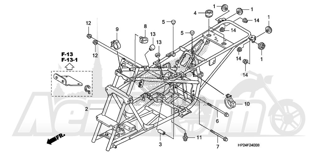 Запчасти для Квадроцикла Honda 2008 TRX90EX Раздел: FRAME | рама