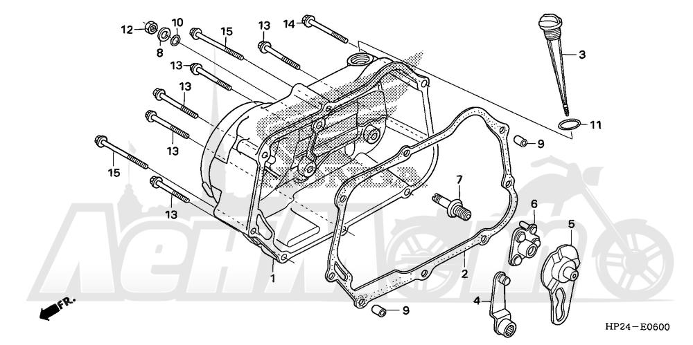 Запчасти для Квадроцикла Honda 2008 TRX90EX Раздел: RIGHT CRANKCASE COVER | правая сторона крышка картера