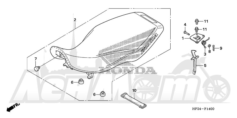 Запчасти для Квадроцикла Honda 2008 TRX90EX Раздел: SEAT | сиденье