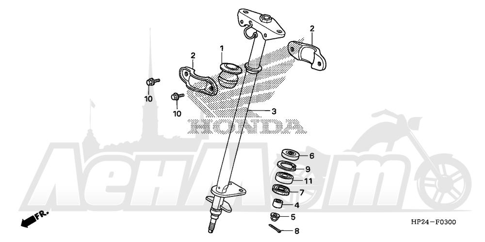 Запчасти для Квадроцикла Honda 2008 TRX90EX Раздел: STEERING SHAFT | рулевой вал