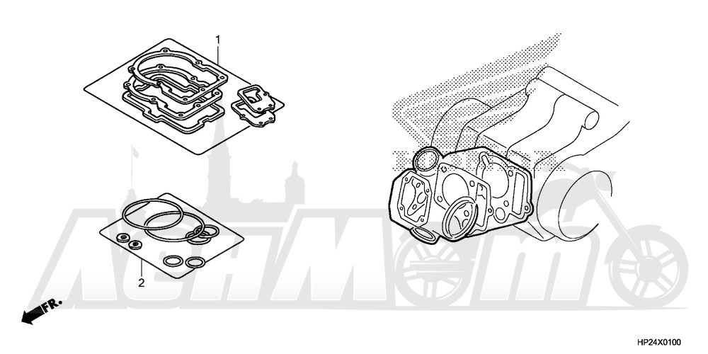 Запчасти для Квадроцикла Honda 2008 TRX90EX Раздел: GASKET KIT A | комплект прокладок A