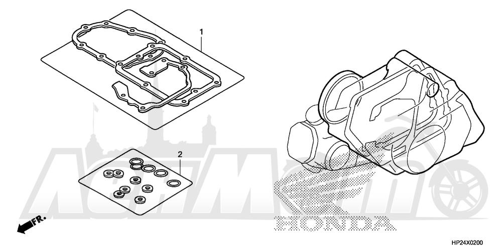 Запчасти для Квадроцикла Honda 2008 TRX90EX Раздел: GASKET KIT B | комплект прокладок B