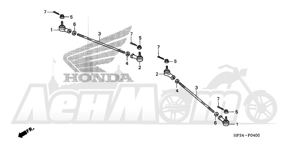 Запчасти для Квадроцикла Honda 2008 TRX90EX Раздел: TIE ROD   рулевая тяга