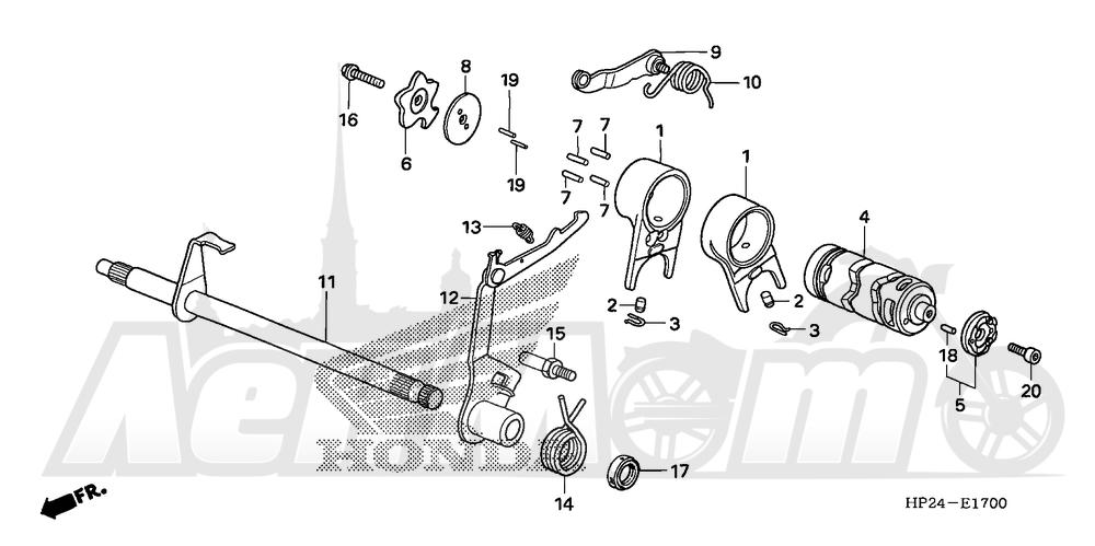 Запчасти для Квадроцикла Honda 2008 TRX90EX Раздел: GEARSHIFT DRUM   переключение передач барабан