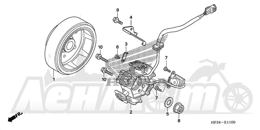 Запчасти для Квадроцикла Honda 2008 TRX90EX Раздел: GENERATOR | генератор
