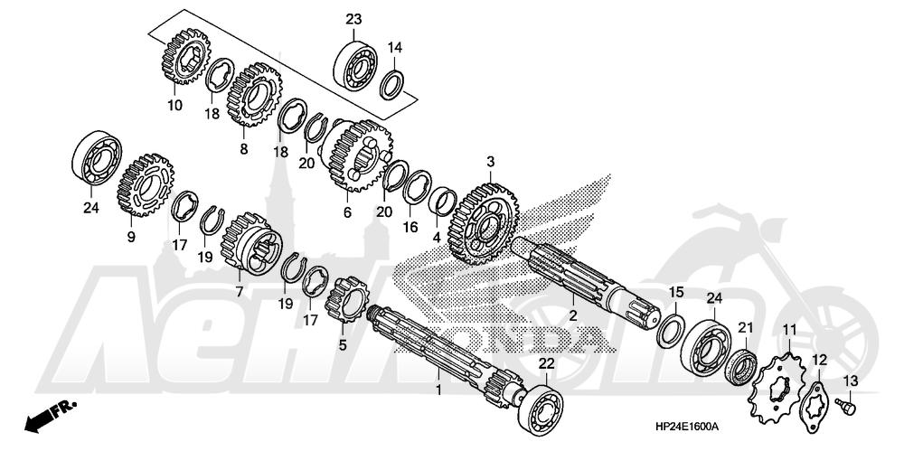 Запчасти для Квадроцикла Honda 2008 TRX90EX Раздел: TRANSMISSION | трансмиссия