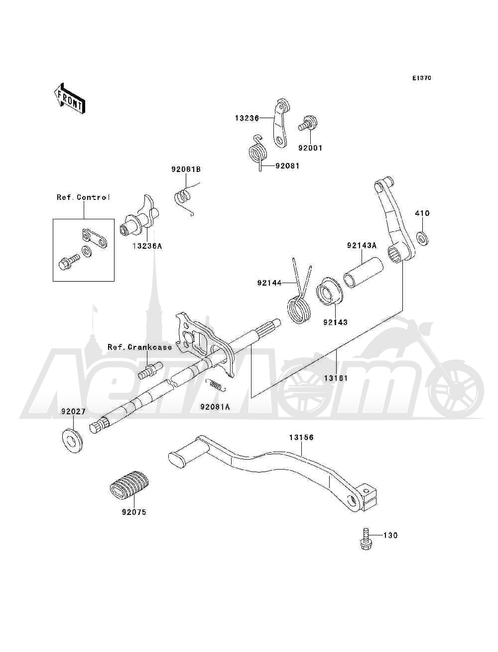 Запчасти для Квадроцикла Kawasaki 1994 BAYOU 300 4X4 (KLF300-C6) Раздел: GEAR CHANGE MECHANISM | переключение передач механизм