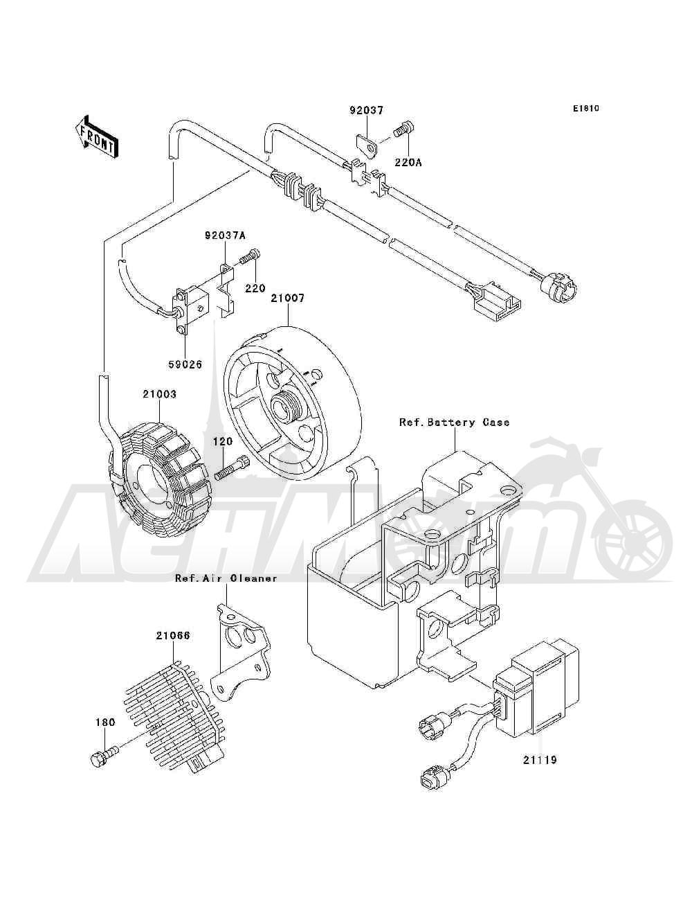 Запчасти для Квадроцикла Kawasaki 1994 BAYOU 300 4X4 (KLF300-C6) Раздел: GENERATOR | генератор