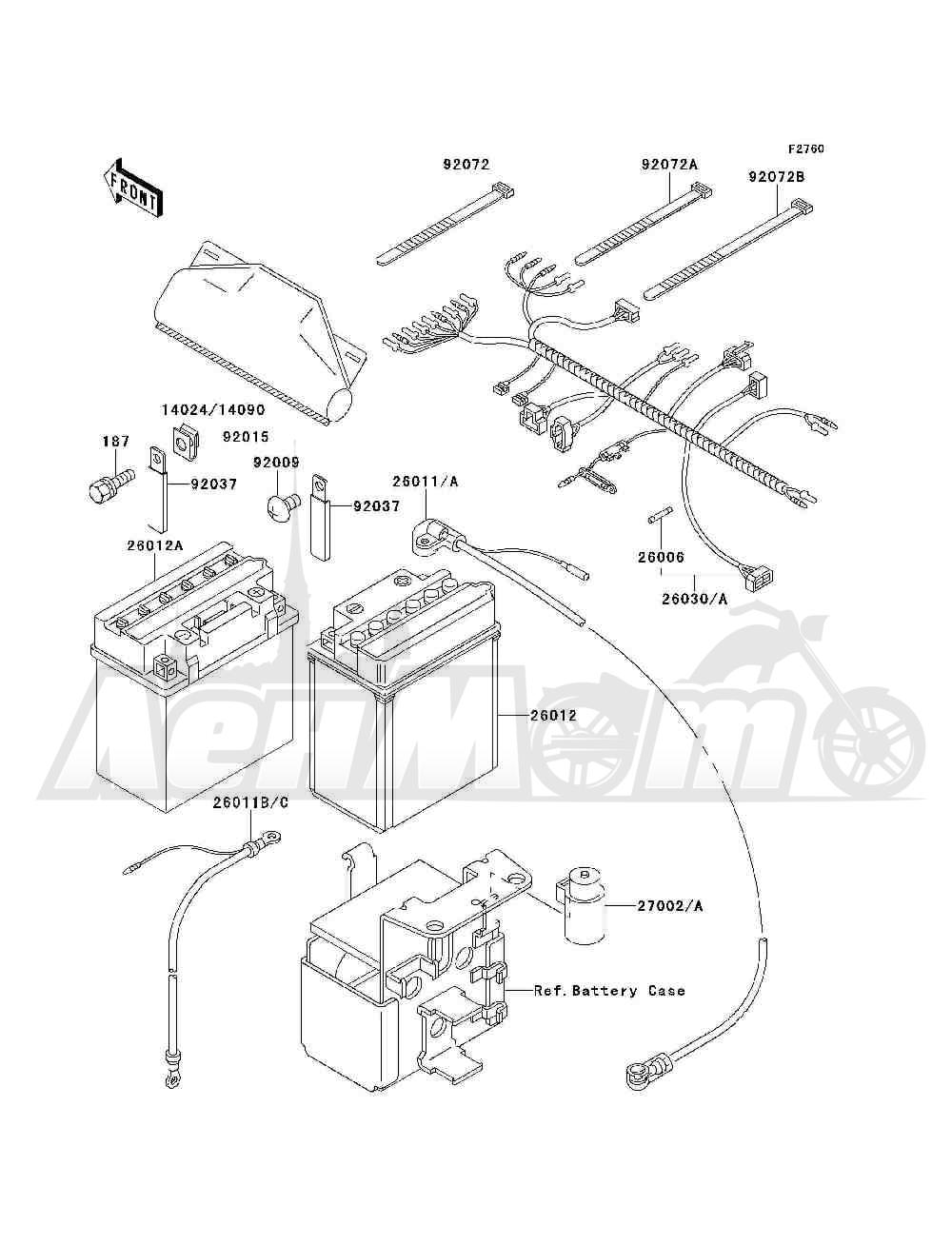 Запчасти для Квадроцикла Kawasaki 1994 BAYOU 300 4X4 (KLF300-C6) Раздел: CHASSIS ELECTRICAL EQUIPMENT | шасси электрическое оборудование