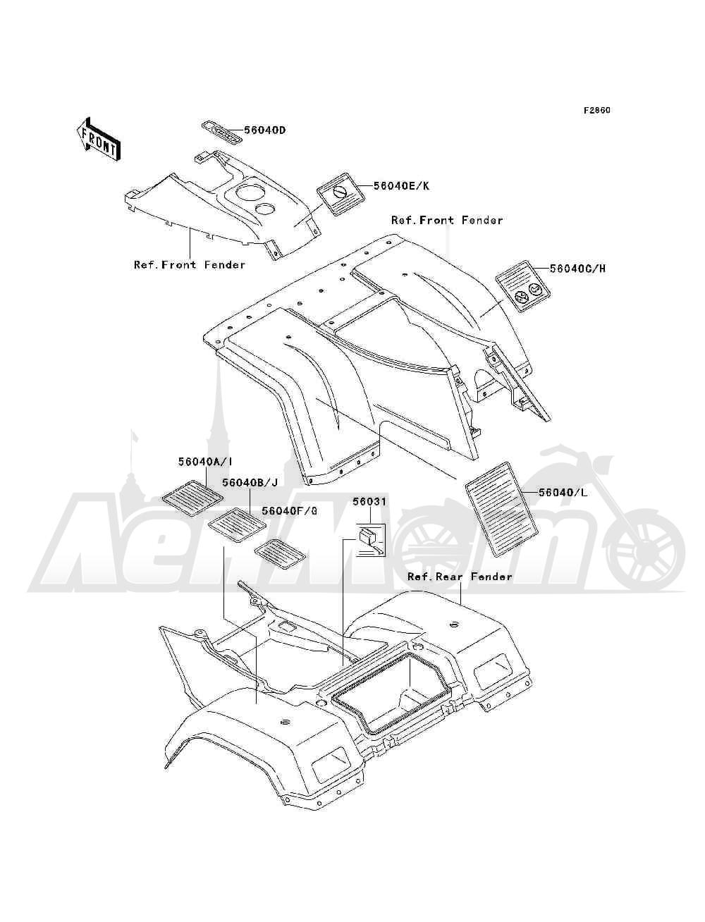 Запчасти для Квадроцикла Kawasaki 1994 BAYOU 300 4X4 (KLF300-C6) Раздел: LABELS | этикетки, метки