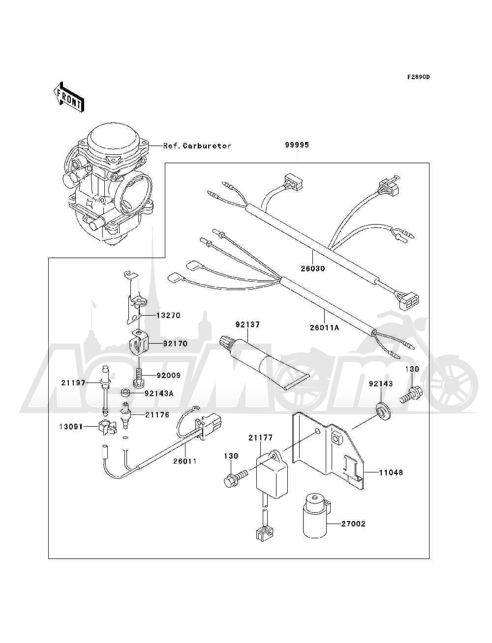 Запчасти для Квадроцикла Kawasaki 1994 BAYOU 300 4X4 (KLF300-C6) Раздел: OPTIONAL PARTS(CARBRETOR) | опционально детали (CARBRETOR)