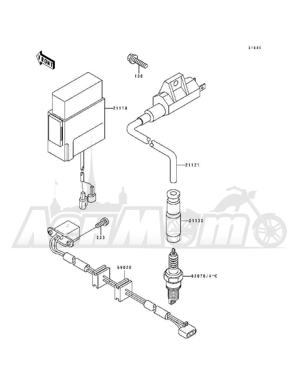 Запчасти для Квадроцикла Kawasaki 1994 BAYOU 400 4X4 (KLF400-B2) Раздел: IGNITION SYSTEM   система зажигания