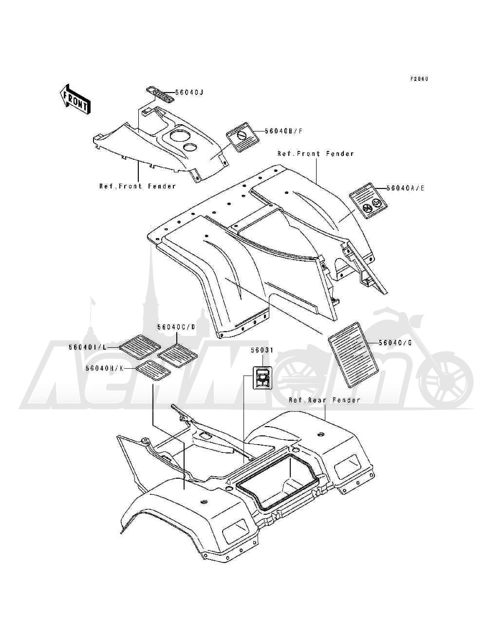 Запчасти для Квадроцикла Kawasaki 1994 BAYOU 400 4X4 (KLF400-B2) Раздел: LABELS | этикетки, метки