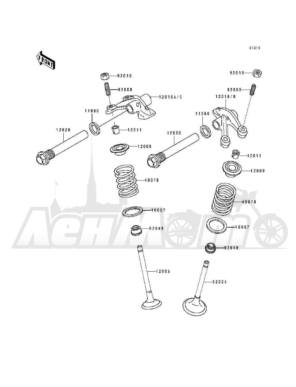 Запчасти для Квадроцикла Kawasaki 1994 BAYOU 400 4X4 (KLF400-B2) Раздел: VALVE(S) | клапан (S)