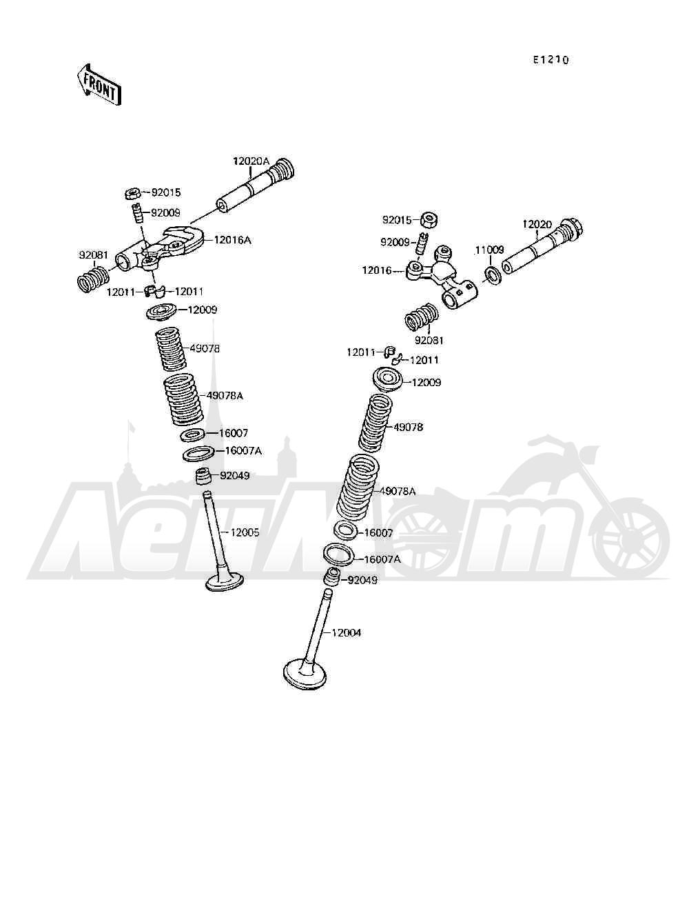 Запчасти для Квадроцикла Kawasaki 1994 MOJAVE 250 (KSF250-A8) Раздел: VALVE(S) | клапан (S)