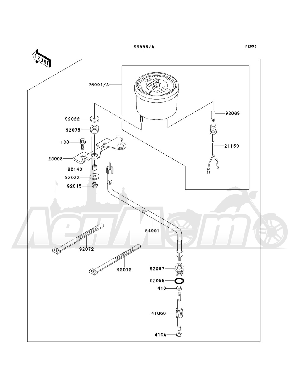 Запчасти для Квадроцикла Kawasaki 1993 BAYOU 220 (KLF220-A6) Раздел: OPTIONAL PARTS | опционально детали
