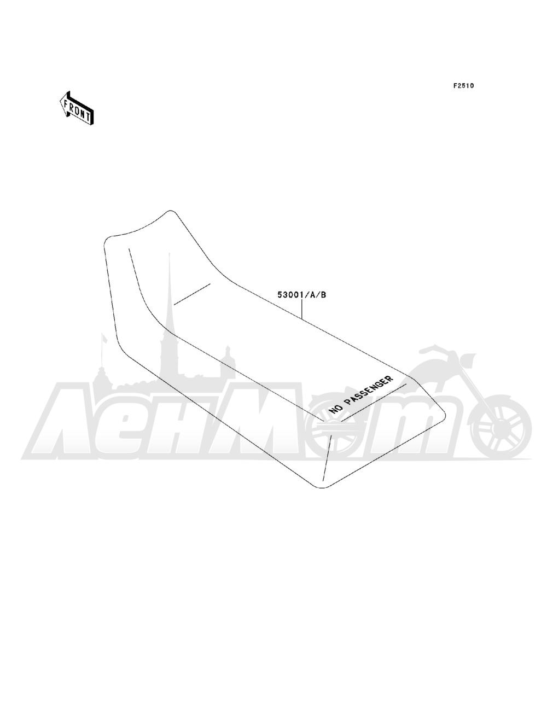 Запчасти для Квадроцикла Kawasaki 1993 BAYOU 220 (KLF220-A6) Раздел: SEAT   сиденье