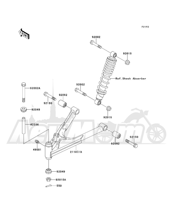 Запчасти для Квадроцикла Kawasaki 1993 BAYOU 220 (KLF220-A6) Раздел: FRONT SUSPENSION | передняя подвеска