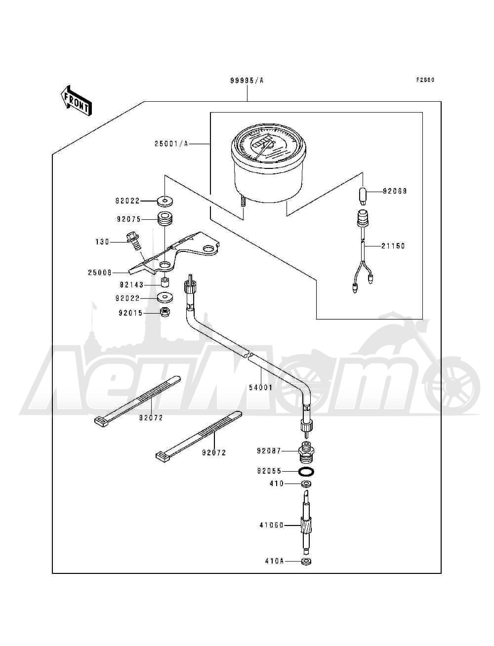 Запчасти для Квадроцикла Kawasaki 1993 BAYOU 300 (KLF300-B6) Раздел: OPTIONAL PARTS(METER)   опционально детали (счетчик)