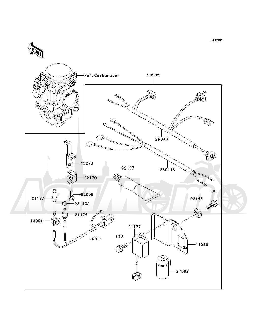 Запчасти для Квадроцикла Kawasaki 1993 BAYOU 300 4X4 (KLF300-C5) Раздел: OPTIONAL PARTS(CARBRETOR) | опционально детали (CARBRETOR)