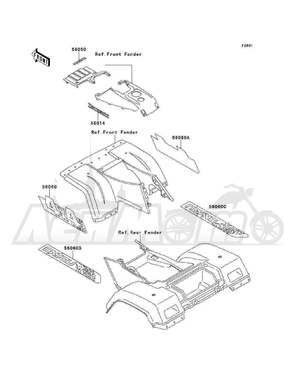 Запчасти для Квадроцикла Kawasaki 1993 BAYOU 300 4X4 (KLF300-C5) Раздел: DECALS(EBONY)(KLF300-C5) | наклейки (EBONY) (KLF300 C5)