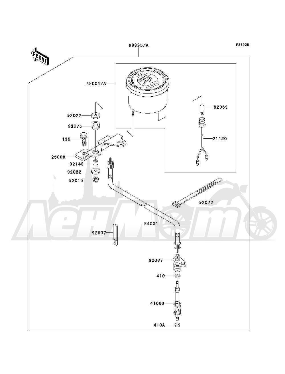 Запчасти для Квадроцикла Kawasaki 1993 BAYOU 300 4X4 (KLF300-C5) Раздел: OPTIONAL PARTS(METER) | опционально детали (счетчик)
