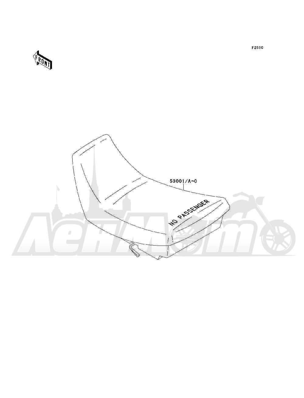 Запчасти для Квадроцикла Kawasaki 1993 BAYOU 300 4X4 (KLF300-C5) Раздел: SEAT | сиденье
