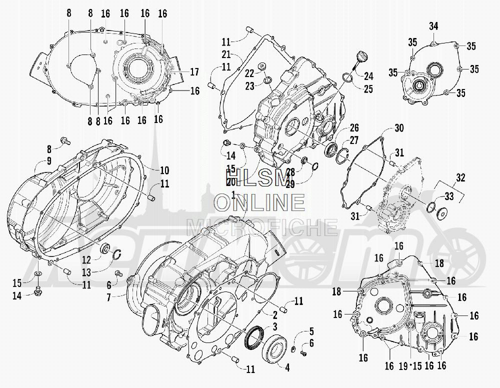 Запчасти для Квадроцикла Arctic Cat 2012 450 RED [A2012ICK4CUSR] Раздел: CLUTCH/DRIVE BELT/MAGNETO COVER ASSEMBLY   сцепление/вариаторный ремень/магнето крышка в сборе