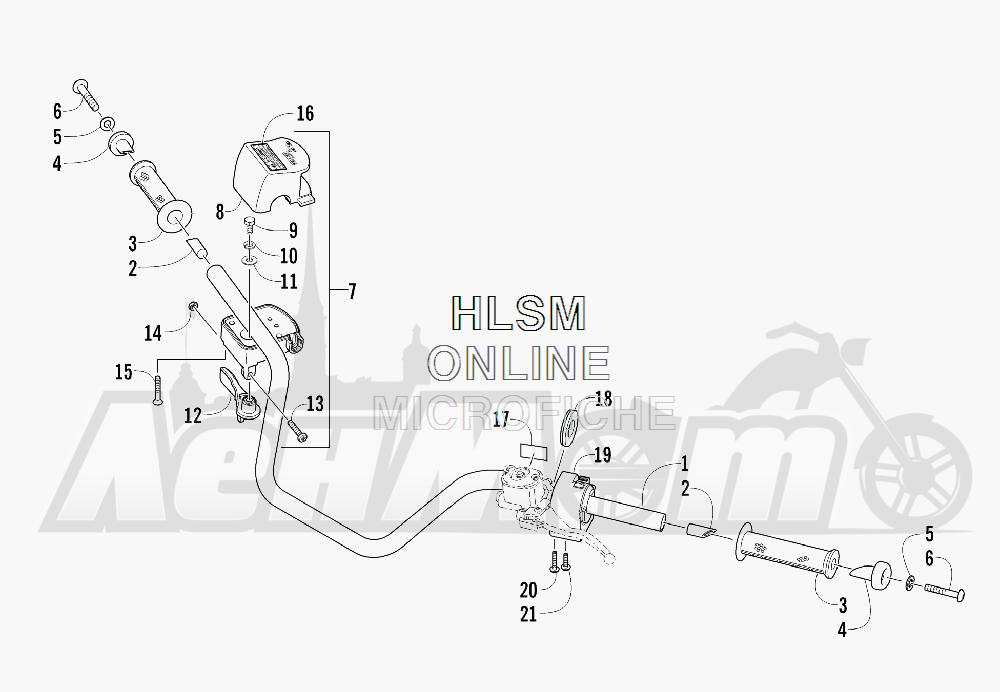 Запчасти для Квадроцикла Arctic Cat 2012 450 GREEN [A2012ICK4CUSG] Раздел: HANDLEBAR ASSEMBLY   руль в сборе