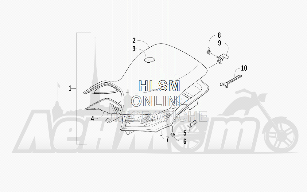 Запчасти для Квадроцикла Arctic Cat 2012 450 TRV BLACK INTERNATIONAL [A2012 TBK4COSP] Раздел: SEAT ASSEMBLY | сиденье в сборе
