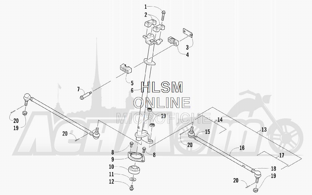 Запчасти для Квадроцикла Arctic Cat 2012 450 TRV BLACK INTERNATIONAL [A2012 TBK4COSP] Раздел: STEERING ASSEMBLY | рулевое управление в сборе