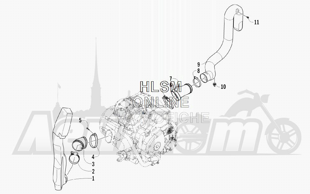 Запчасти для Квадроцикла Arctic Cat 2012 450 TRV GT ORANGE [A2012TGK2PUSU] Раздел: CASE/BELT COOLING ASSEMBLY | корпус/ремень охлаждение в сборе