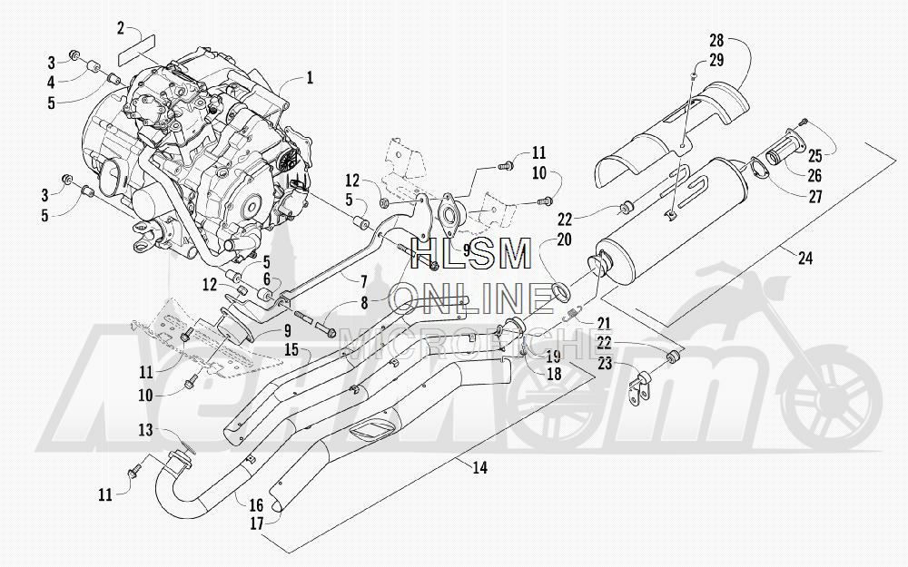 Запчасти для Квадроцикла Arctic Cat 2012 450 TRV GT ORANGE INTERNATIONAL [A2012TGK2POSU] Раздел: ENGINE AND EXHAUST | двигатель и выпуск