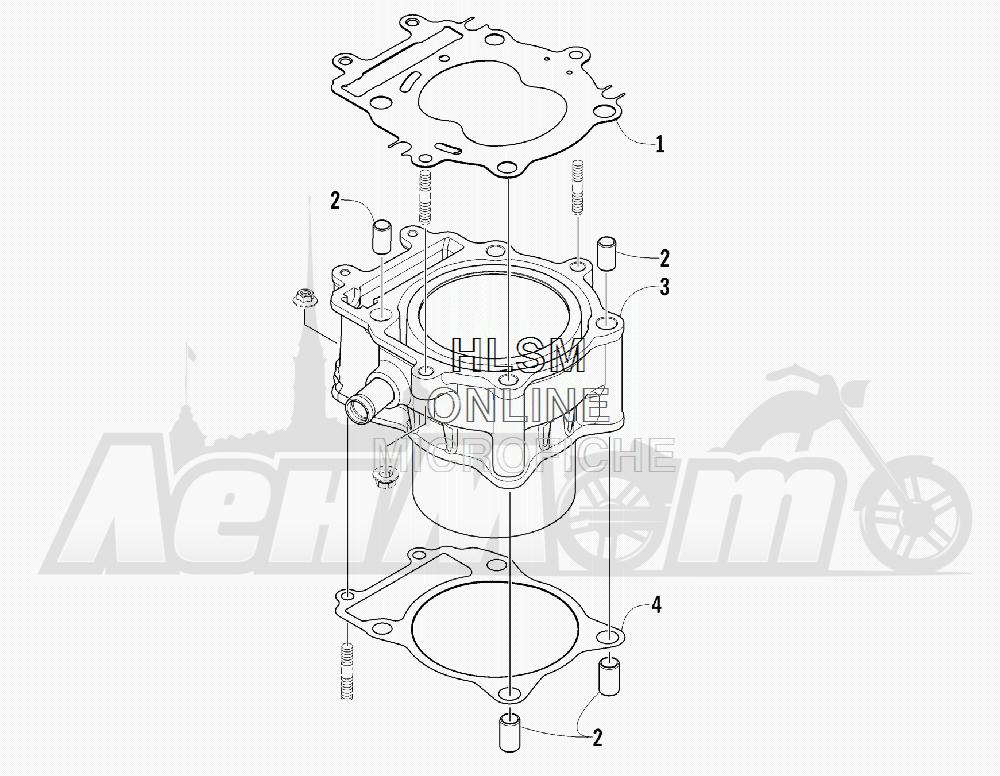 Запчасти для Квадроцикла Arctic Cat 2012 450 GT BLUE [A2012BGK2PUSD] Раздел: CYLINDER ASSEMBLY | цилиндр в сборе