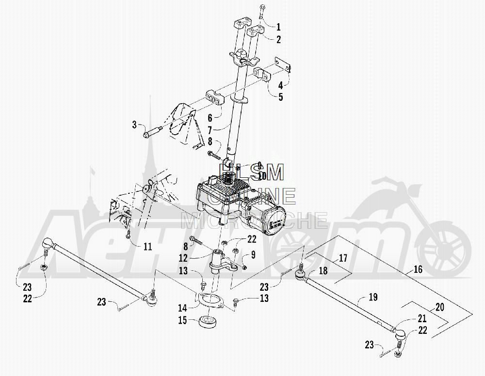 Запчасти для Квадроцикла Arctic Cat 2012 450 GT BLUE [A2012BGK2PUSD] Раздел: STEERING ASSEMBLY | рулевое управление в сборе