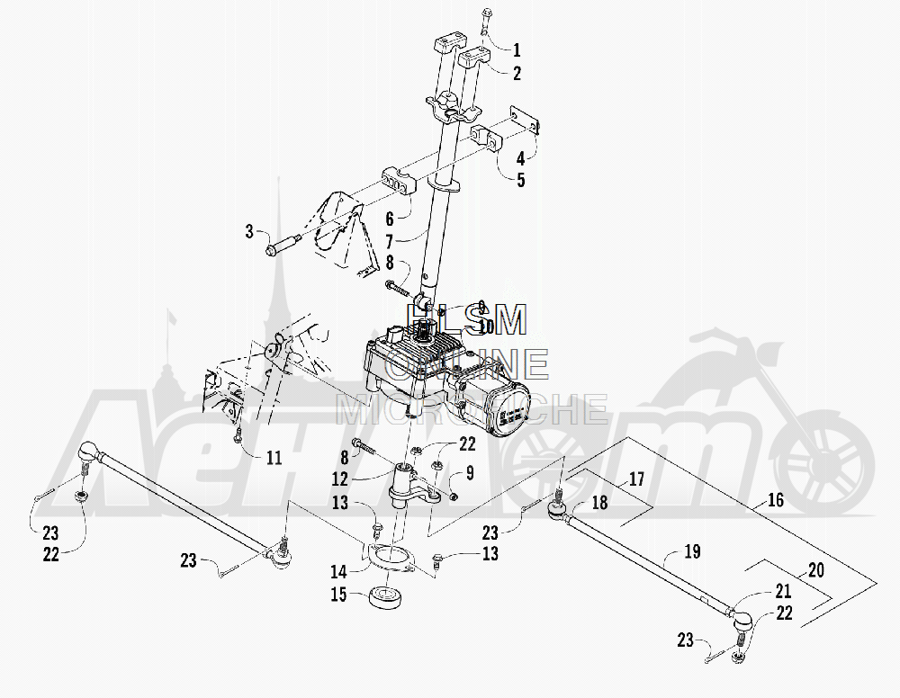 Запчасти для Квадроцикла Arctic Cat 2012 450 GT BLUE INTERNATIONAL [A2012BGK2POSD] Раздел: STEERING ASSEMBLY | рулевое управление в сборе