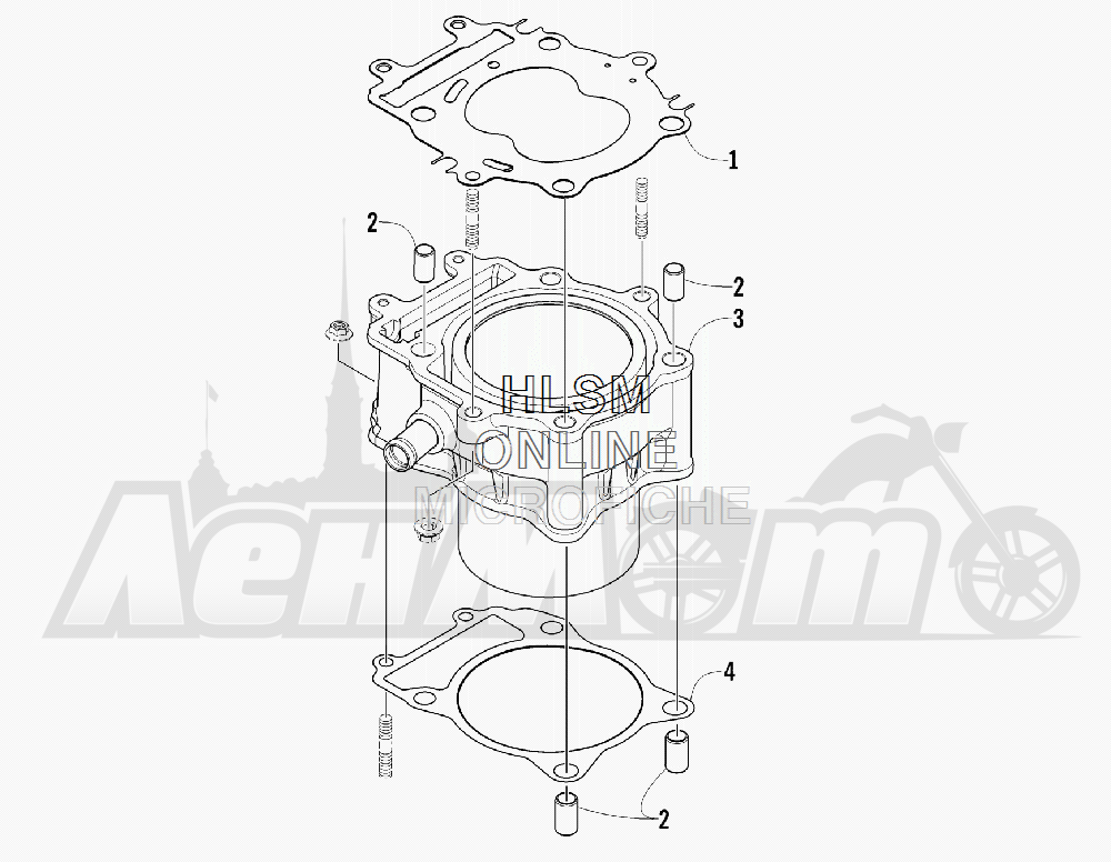 Запчасти для Квадроцикла Arctic Cat 2012 450 GT ORANGE [A2012BGK2PUSU] Раздел: CYLINDER ASSEMBLY | цилиндр в сборе
