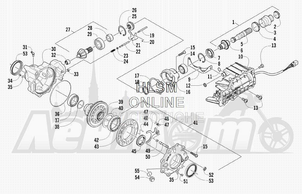 Запчасти для Квадроцикла Arctic Cat 2012 450 GT ORANGE [A2012BGK2PUSU] Раздел: FRONT DRIVE GEARCASE ASSEMBLY | перед ведущий редуктор в сборе