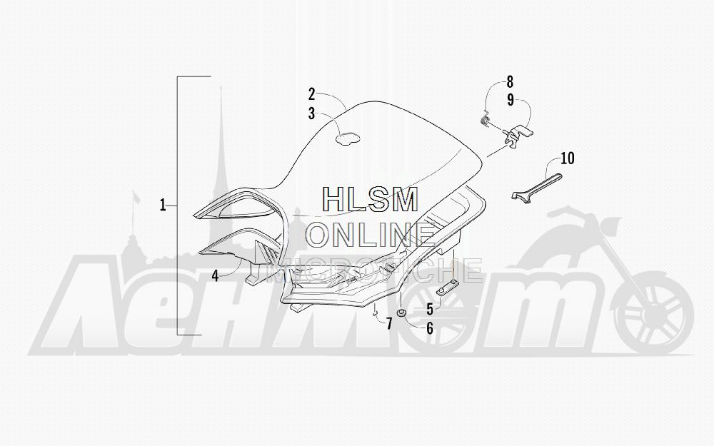 Запчасти для Квадроцикла Arctic Cat 2012 450 GT ORANGE [A2012BGK2PUSU] Раздел: SEAT ASSEMBLY | сиденье в сборе
