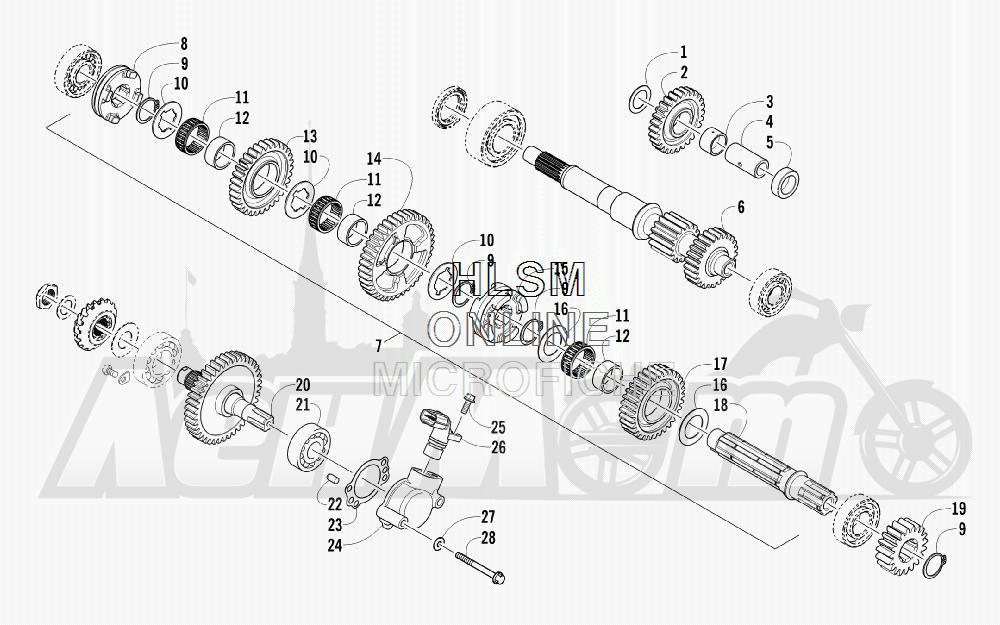Запчасти для Квадроцикла Arctic Cat 2012 450 GT ORANGE [A2012BGK2PUSU] Раздел: SECONDARY TRANSMISSION ASSEMBLY | вторичный трансмиссия в сборе