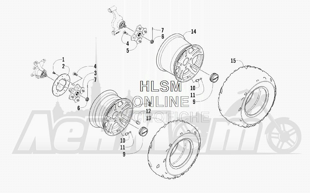 Запчасти для Квадроцикла Arctic Cat 2012 450 GT ORANGE [A2012BGK2PUSU] Раздел: WHEEL AND TIRE ASSEMBLY   колесо и покрышка в сборе