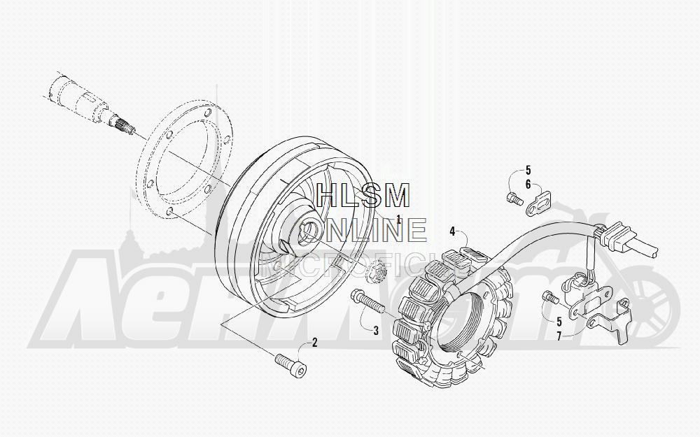 Запчасти для Квадроцикла Arctic Cat 2012 450 GT ORANGE INTERNATIONAL [A2012BGK2POSU] Раздел: MAGNETO ASSEMBLY | магнето в сборе