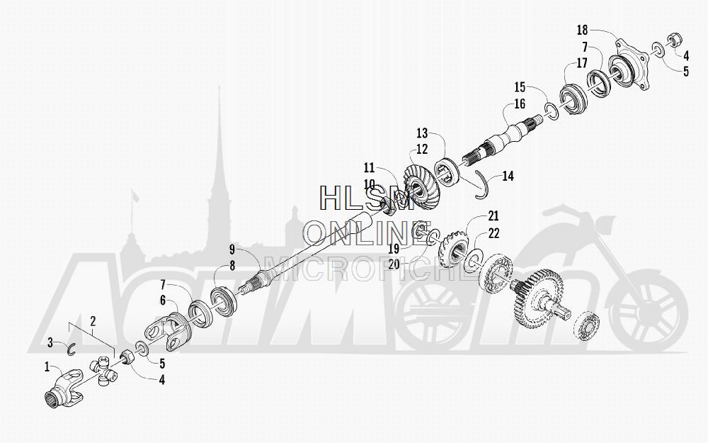 Запчасти для Квадроцикла Arctic Cat 2012 450 GT ORANGE INTERNATIONAL [A2012BGK2POSU] Раздел: SECONDARY DRIVE ASSEMBLY   вторичный привод в сборе