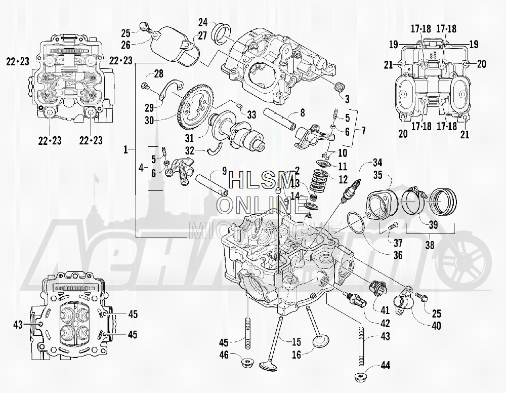 Запчасти для Квадроцикла Arctic Cat 2012 550 BLACK [A2012ICO4EUSP] Раздел: CYLINDER HEAD AND CAMSHAFT/VALVE ASSEMBLY | головка цилиндра и распредвал/клапан в сборе